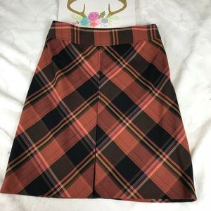 The Limited Woman's Multicolor Plaid A-Line Skirt